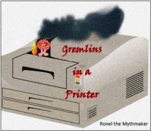 gremlins in a printer artistic use