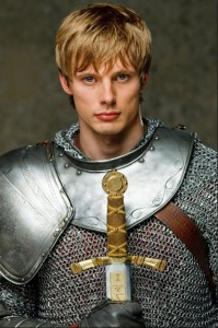 Dreamy Bradley James as King Arthur in BBC's Merlin.
