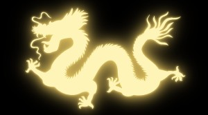 glowing eastern dragon