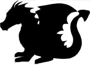 silhouette western dragon