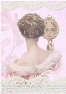 vintage elegant lady