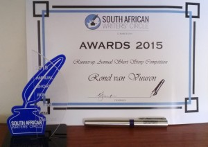 sawc certificate and trophy