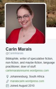carin marais twitter profile
