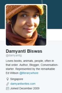 damyanti biswas twitter profile
