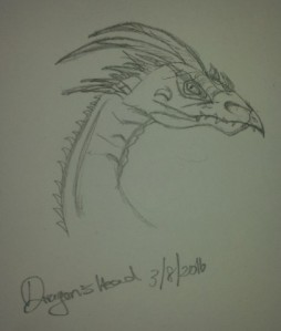 Dragon head completed.