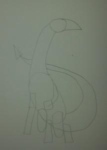 Shapes that make a dragon.