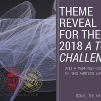 Theme Reveal for the 2018 #AtoZChallenge and a Writing Update #writerslife